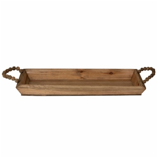 Large Wooden Tray Perspective: front