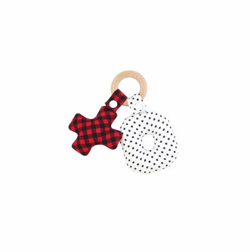 Christian Brands G2198 Teether Toy - XO WoodPack of 2 Perspective: front