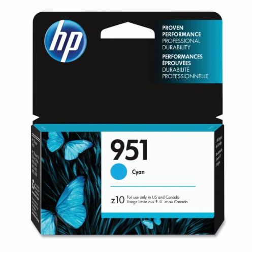 HP 951 Original Ink Cartridge - Cyan Perspective: front