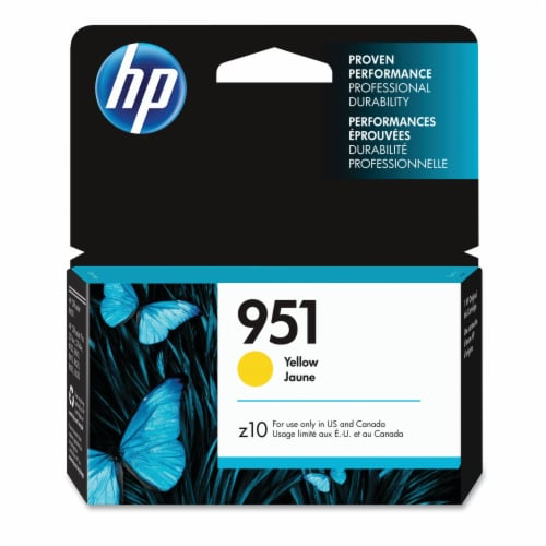 HP Officejet 951 Ink Cartridge - Yellow Perspective: front