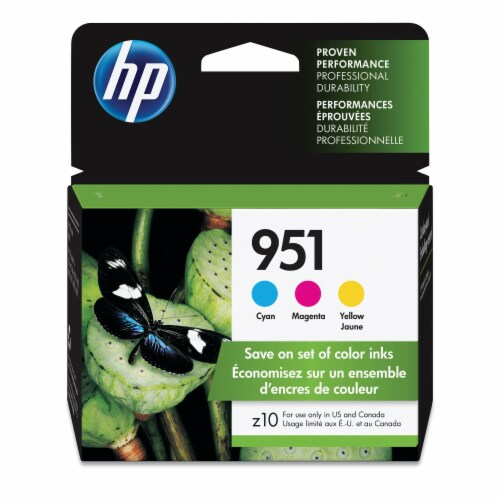 HP 951 Ink Cartridges - Cyan/Magenta/Yellow Perspective: front