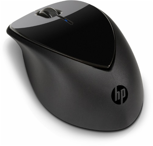 HP x4000 Wireless Mouse with Laser Sensor - Black Perspective: front