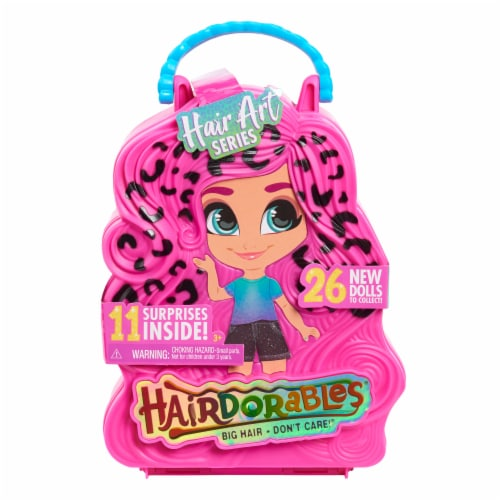 Just Play Hair Art Series Hairdorables Doll Perspective: front