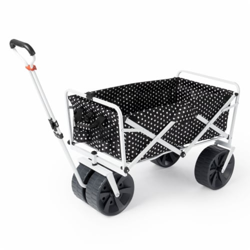 Mac Sports Collapsible Folding All Terrain Outdoor Beach Utility Wagon Cart Perspective: front