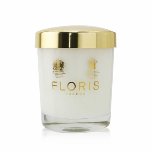 Floris Scented Candle  Rose & Oud 175g/6oz Perspective: front