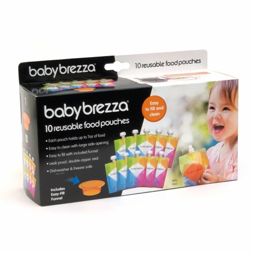 Baby Brezza Reusable Food Pouch Set Perspective: front