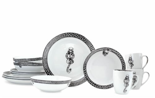 Harry Potter Voldemort Death Eater Dinnerware Sets | 16-Piece Ceramic Dinner Set Perspective: front