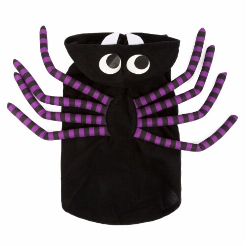 Simply Dog Extra Small-Small Black and Purple Spider Pet Costume Perspective: front