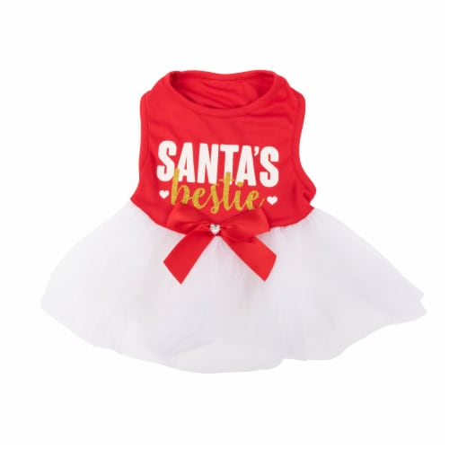 Simply Dog Mission Pets Santa's Red Bestie Dress Perspective: front