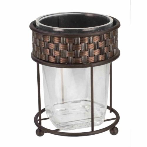 Basket Weave Tumbler, Bronze Perspective: front