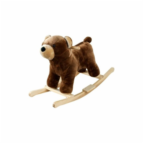 Happy Trails Plush Rocking Barry Bear With Sounds Perspective: front