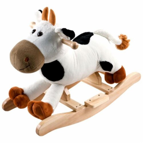 Happy Trails Plush Rocking Connie Cow With Sounds Perspective: front