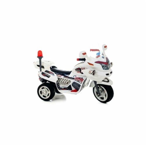 Lil Rider Ride-on Police Connection Bike Trike - Supersize White Perspective: front