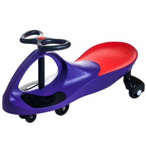 Lil Rider Wiggle Car Ride on - Purple Perspective: front