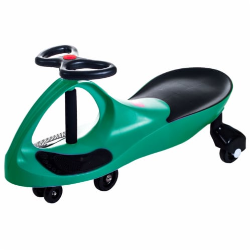 Lil Rider Green Wiggle Ride-on Car Perspective: front