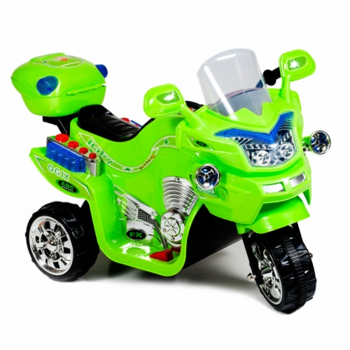Lil' Rider FX 3 Wheel Motorcycle Battery Powered Bike - Green Ride on Toy 2-4 Years Old Perspective: front