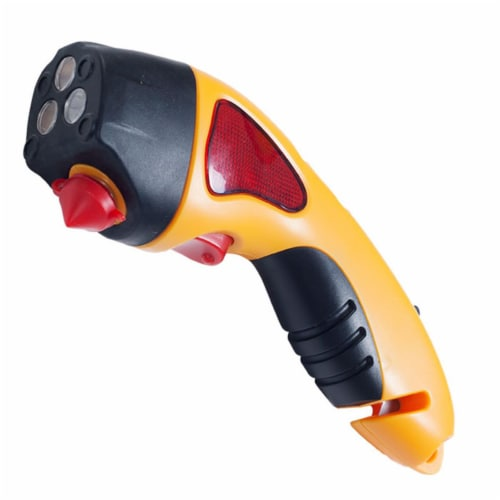 Stalwart 72-35-Y 8.25 x 1.75 x 2.5 in. Auto Emergency Escape Hammer Safety Tool with Flashlig Perspective: front