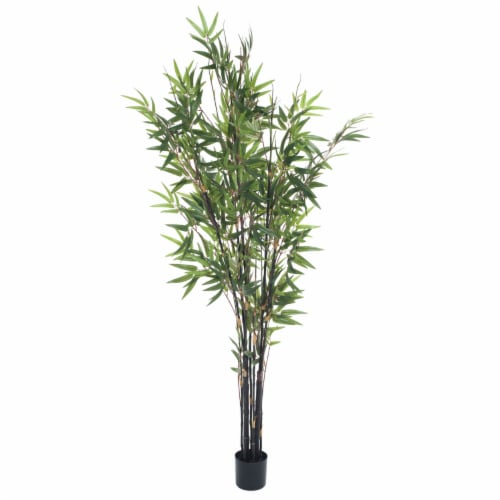 Pure Garden 5 Foot Japanese Bamboo Artificial Tree Perspective: front
