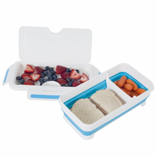 Classic Cuisine Rectangular Expandable Lunch Box with Dividers Perspective: front