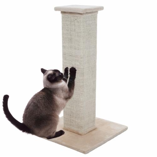 PETMAKER 28 inch Sisal Burlap Cat Scratching Post Perspective: front