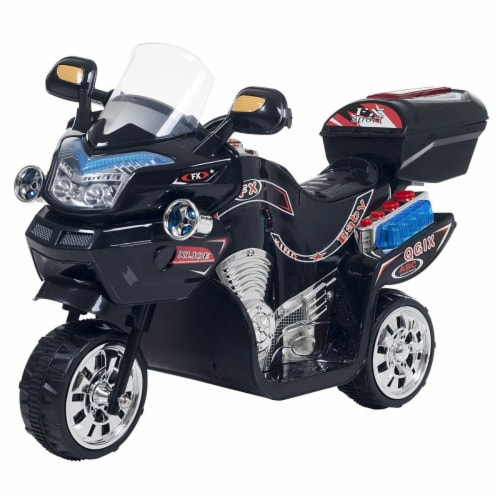 Lil Rider 90-109K Ride-On Toy 3 Wheel Motorcycle Trike for Kids by Rockin Rollers, Black Perspective: front