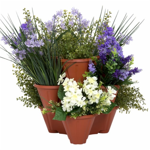 Pure Garden 50-115 Stackable Planters - Set of 3 Perspective: front