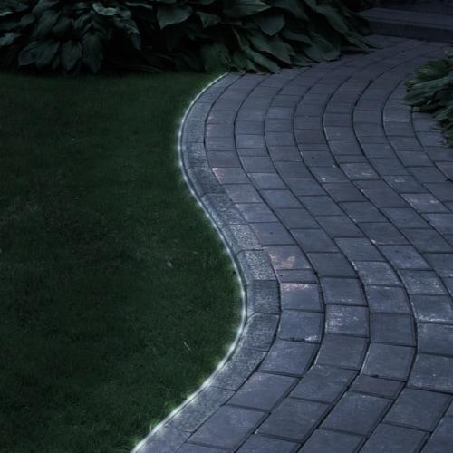 Pure Garden 50-122 32 ft. Solar LED Rope Light - 100 White LED Lights Perspective: front