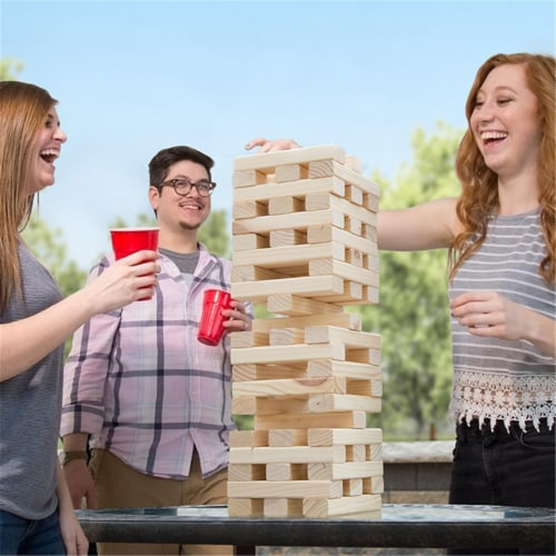 Hey Play M420009 Large Nontraditional Tumbling Towers Perspective: front