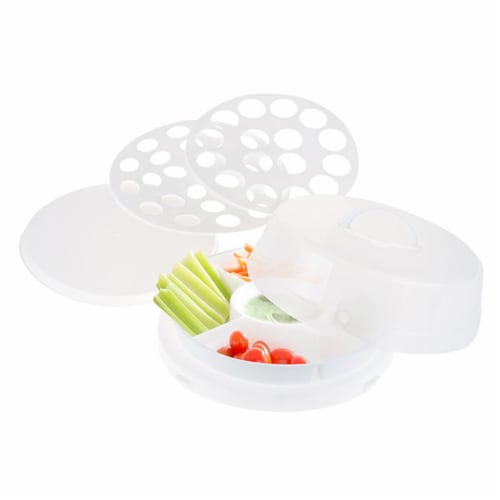 Classic Cuisine 4 in1 Party Tray Travel Set - Veg & Dip, Bakery, Eggs Perspective: front