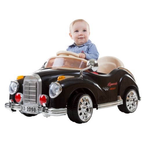 Lil Rider 80-KB2098B Battery Powered Classic Car Coupe with Remote Control & Sound Ride on To Perspective: front