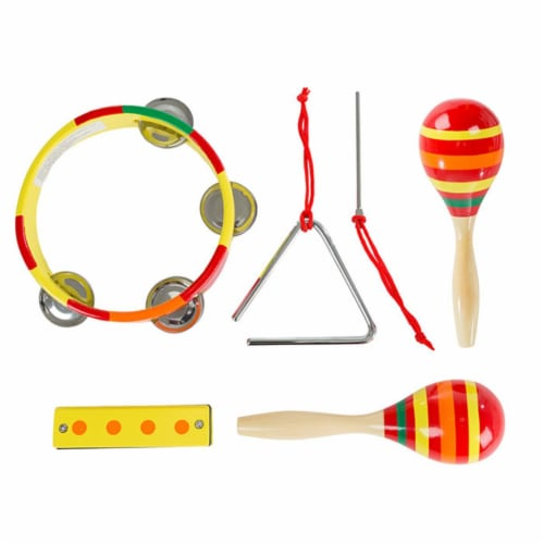 Hey Play 80-GD-1227-1 Kids Percussion Musical Instruments Toy Set Perspective: front