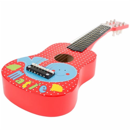 Hey Play 80-GD-3510 Toy Acoustic Guitar with 6 Tunable Strings & Real Musical Sounds Perspective: front