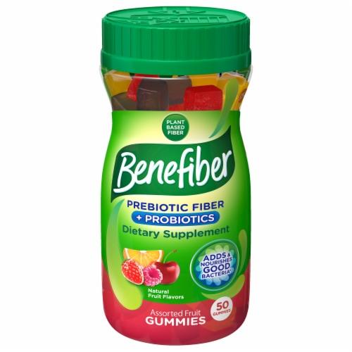 Benefiber Prebiotic Fiber Assorted Fruit Flavor Dietary Supplement Gummies Perspective: front