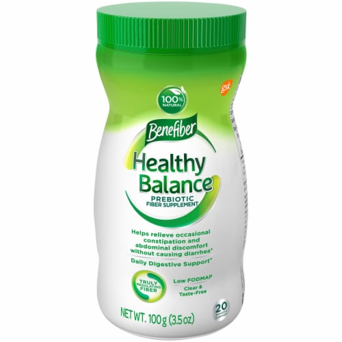 Benefiber Healthy Balance Prebiotic Fiber Supplement Perspective: front