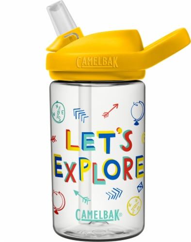 Camelbak Eddy Let's Explore Water Bottle - Yellow Perspective: front