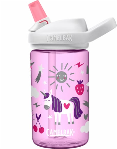 Camelbak Eddy Unicorn Party Water Bottle - Purple / White / Pink Perspective: front