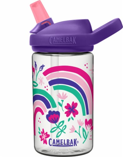 Camelbak Eddy+ Kids' Water Bottle - Rainbow Floral Perspective: front