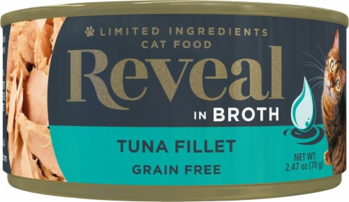 Reveal Grain Free Natural Broth Tuna Fillet Cat Food Perspective: front