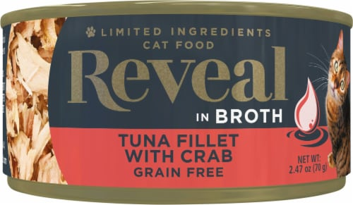 Reveal Grain Free Tuna Fillet with Crab Wet Cat Food Perspective: front