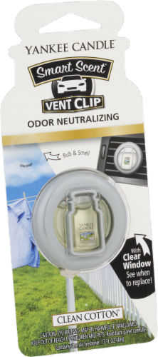 Yankee Candle Smart Scent Odor Neutralizing Clean Cotton Vent Clip Perspective: front