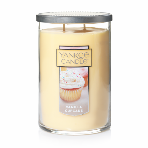 Yankee Candle Vanilla Cupcake Jar Candle Perspective: front