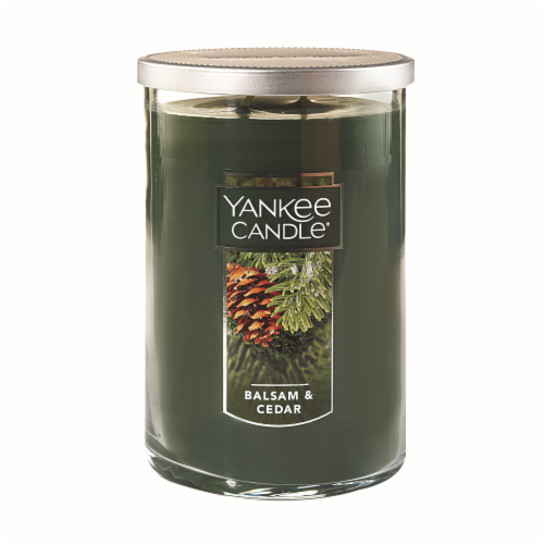 Yankee Candle Balsam & Cedar Jar Candle Perspective: front