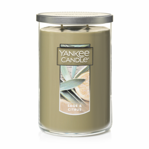 Yankee Candle Sage & Citrus Jar Candle Perspective: front