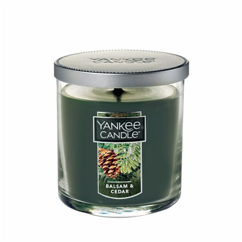 Yankee Candle® Balsam & Cedar Tumbler Candle - Green Perspective: front