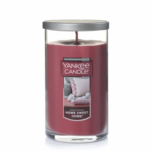 Yankee Candle® Home Sweet Home Pillar Candle - Burgundy Perspective: front