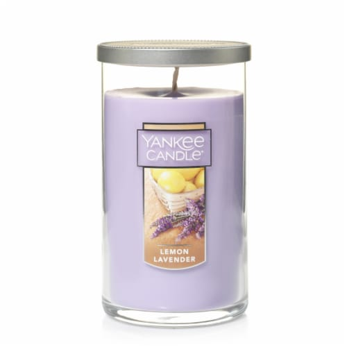 Yankee Candle® Lemon Lavender Pillar Candle Perspective: front