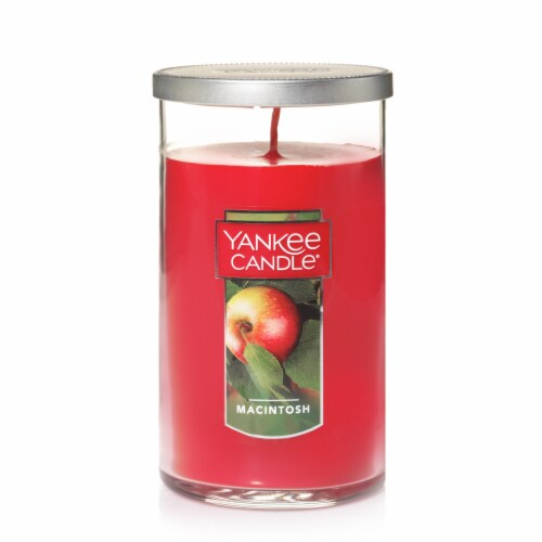 Yankee Candle® Macintosh Pillar Candle - Red Perspective: front