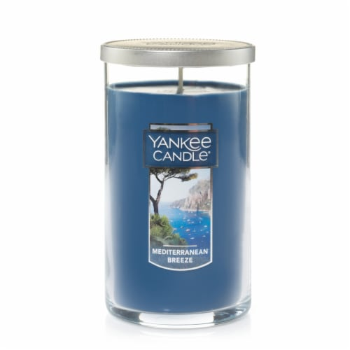Yankee Candle Mediterranean Breeze Jar Candle - Blue Perspective: front