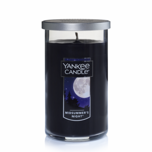 Yankee Candle® Midsummer's Night Pillar Candle - Black Perspective: front