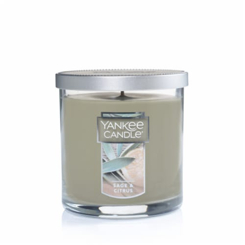 Yankee Candle® Sage & Citrus Tumbler Candle - Gray Perspective: front